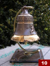 A commemorative bell with an ornamented crest of Gdansk and Neptun`s statue (h. 10cm, d. 10,5cm)