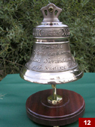 A bell made to commemorate the 25th anniversary of Holy Orders (12cm x 12,5cm)