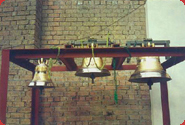 Pictures showing consecration of three bells in Soczia, Russia